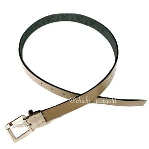 Michael Kors Reversible Black and Cream Belt